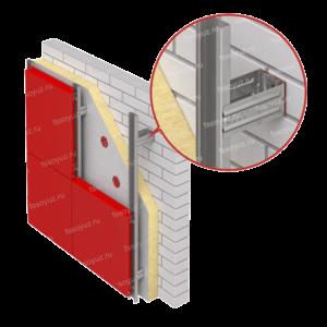 Макет фасадной системы СОЮЗ 7000 (икля и салазка)